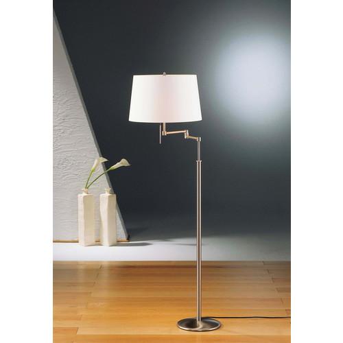 2541 Swing-Arm Floor Lamp [Finish : 2541 SN - Satin Nickel; Shade : SWRG - Satin White]
