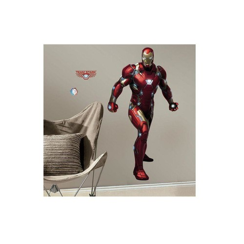 RoomMates 2.5 in. x 27 in. Captain America Civil War 16-Piece Peel and Stick Giant Wall Decal