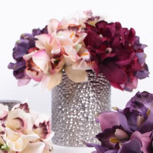 G Home Collection Luxury Silk Cymbidium Orchid Bouquet Flower Floral Arrangements; Green