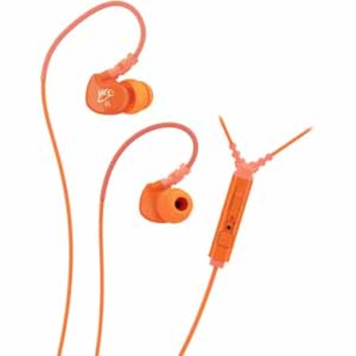 Mee Audio Memory Wire In-Ear Headphones with Microphone, Remote, and Universal Volume Control - Orange