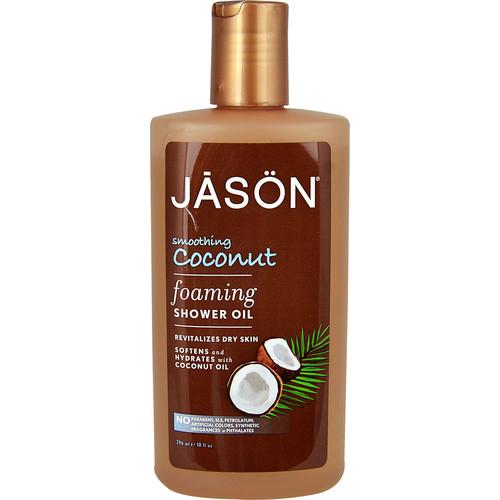 Jason Foaming Shower Oil Smoothing Coconut -- 10 fl oz