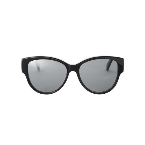 SAINT LAURENT Rounded Cat Eye Black Sunglasses