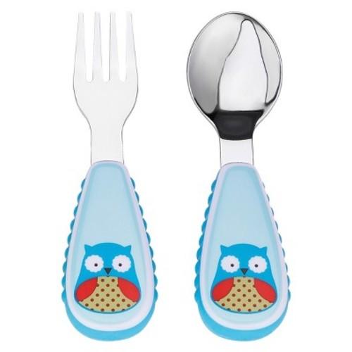 Skip Hop Baby Zoo Little Kid and Toddler Fork and Spoon Utensil Set, Multi Otis Owl [Multi Otis Owl]