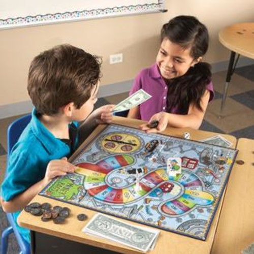 Learning Resources Money Bags Board Coin Value Game