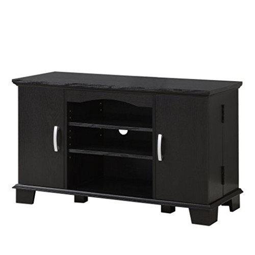 Walker Edison 42-Inch Wood TV Stand Console, Black