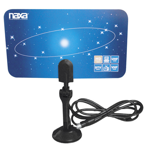 Naxa 97086479M Ultra-Thin Flat Panel Style High Powered Antenna Suitable for HDTV and ATSC Digital Television
