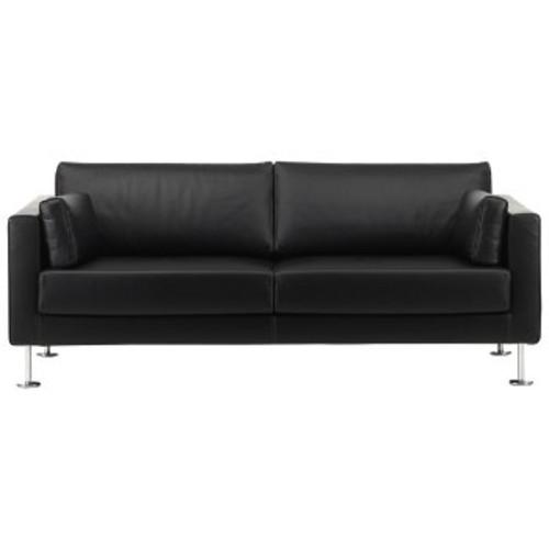 Park Sofa [Fabric : Leather Asphalt]