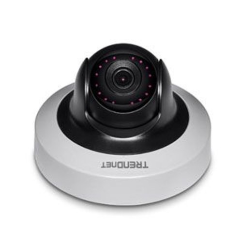 TRENDnet Indoor Network Camera - 2 MP 1080p WDR Mini Pan / Tilt PoE IR, 10m Night Vision, MicroSD Card Slot (up to 128 GB), ONVIF and IPv6 Support - TV-IP410PI