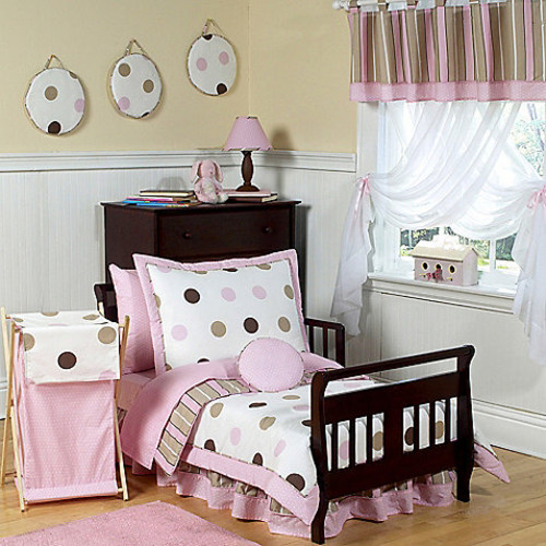 Sweet Jojo Designs Pink and Chocolate Mod Dots Bedding Collection