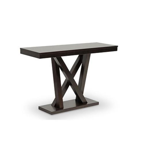 Baxton Studio Everdon Sofa Table - Dark Brown