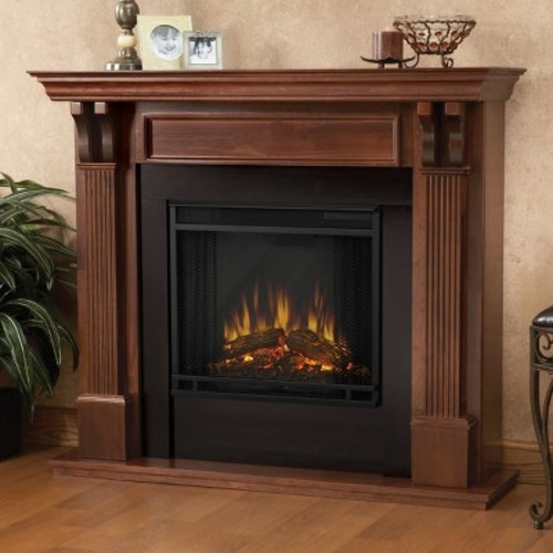 Real Flame - Ashley Electric Fireplace-Mahogany
