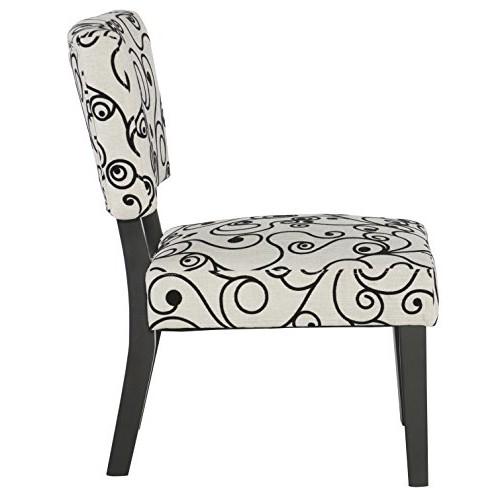 Linon Home Dcor Linon Home Decor Taylor Accent Chair, White Black Circles