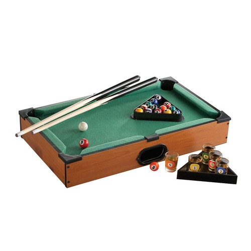 Game Night Pool Table Shot Glass Set