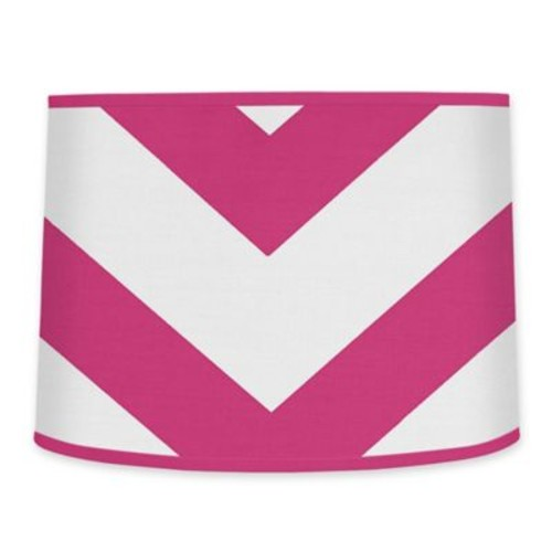 Sweet jojo Designs Chevron Lampshade in Pink and White