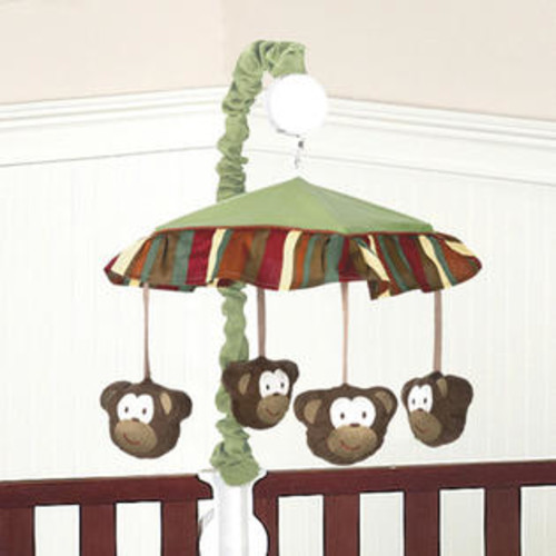 Sweet Jojo Designs Monkey Collection Musical Mobile - Mobile-Monkey