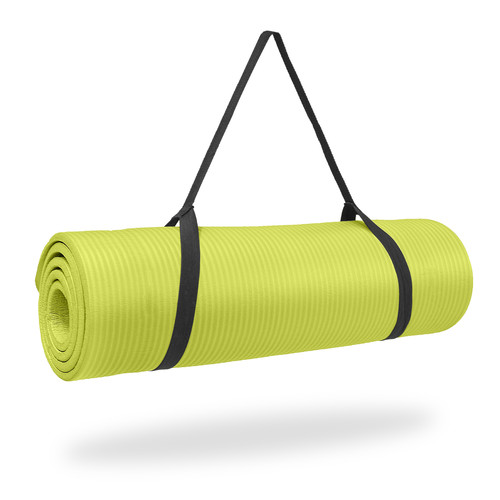 Pure Fitness Deluxe Exercise Mat - Lime