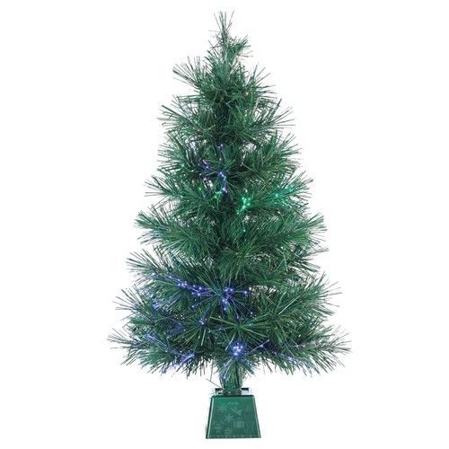 Sterling 3 ft. Pre-Lit Fiber Optic Artificial Christmas Tree with 50 UL Clear Lights