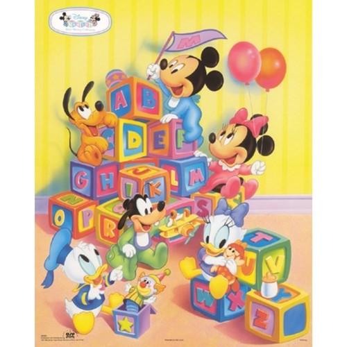 ''Disney Babies: Alphabet Blocks'' by Walt Disney Children's Art Art Print (20 x 16 in.)