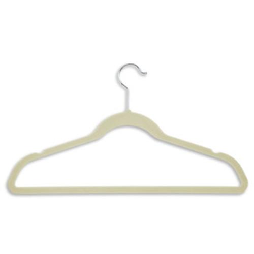 Honey-Can-Do HNG-01052 Tan Ultra Thin Velvet Touch Suit Hangers (20-pack)