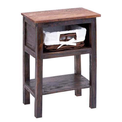 Studio 350 Decorative Storage & Organizers Wooden Rattan End Table