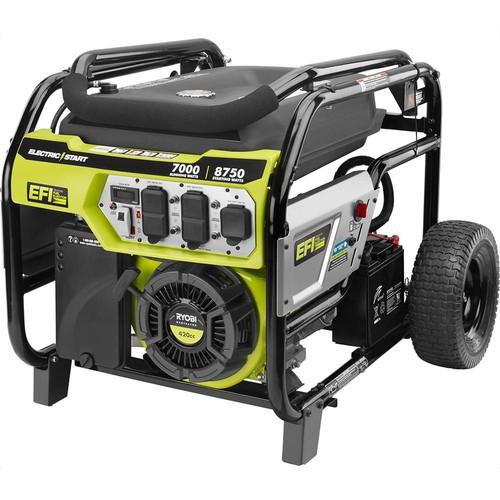 Ryobi 7000-Watt Electronic Fuel Injected (EFI) Gasoline Powered Electric Start Portable Generator