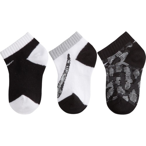 Nike Kids' Graphic No Show Socks 3 Pack
