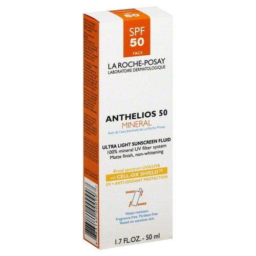 La Roche-Posay Anthelios 50 Mineral Ultra Light Sunscreen SPF 50, 1.7 Fluid Ounce