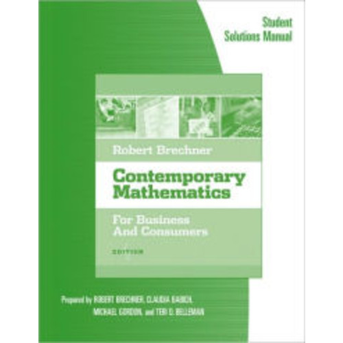 Contemporary Mathematics for Business and Consumers / Edition 4