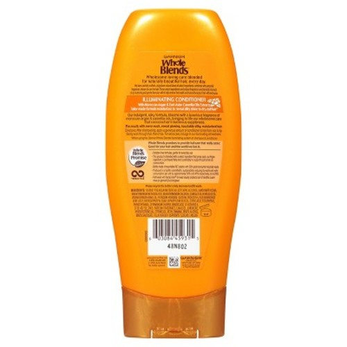 Garnier Whole Blends Illuminating Conditioner Moroccan Argan and Camellia Oils Extracts, 12.5 fl. Oz [12.5 fl. Oz]