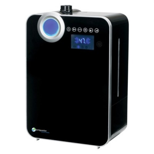 PureGuardian Ultrasonic Warm and Cool Mist Humidifier, Large Room, Home, Office, Easy Quiet Operation, Digital Display, Auto Humidistat, Timer, Auto Shut-Off, Pure Guardian H8000B