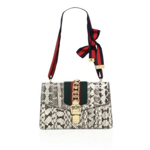 GUCCI Sylvie Snake Shoulder Bag