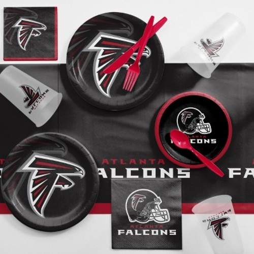 NFL Black And Red Atlanta Falcons Game Day Party Supplies Kit