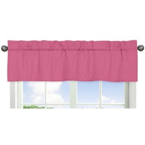 Sweet Jojo Designs Happy Owl Hatch Print Window Valance in Pink