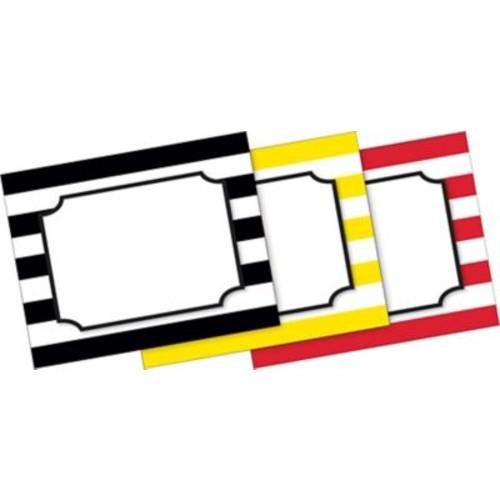 Barker Creek Wide Stripes Name Badges & Self-Adhesive Labels, 45 Pieces Per Pack (BC1544)