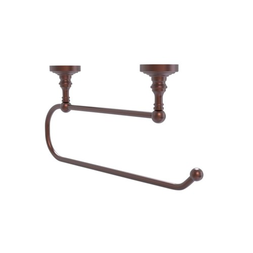 Allied Brass Waverly Place Under Cabinet Double Post Toilet Paper Holder in Antique Copper