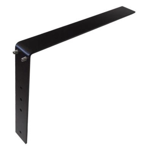 Low Profile 16 in. Steel Countertop Support Adjustable Bracket in Black