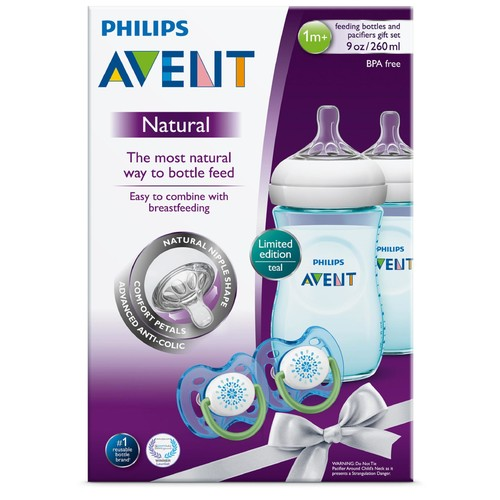 Philips 2 Natural Feeding Bottles & 2 Pacifiers Gift Set