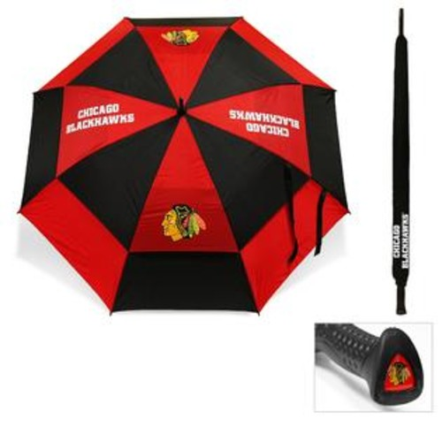 Team Golf Chicago Blackhawks 62-inch Double Canopy Golf Umbrella