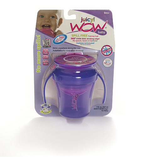 Wow Baby 7 Ounce Spill-Free Drinking Cup - Purple