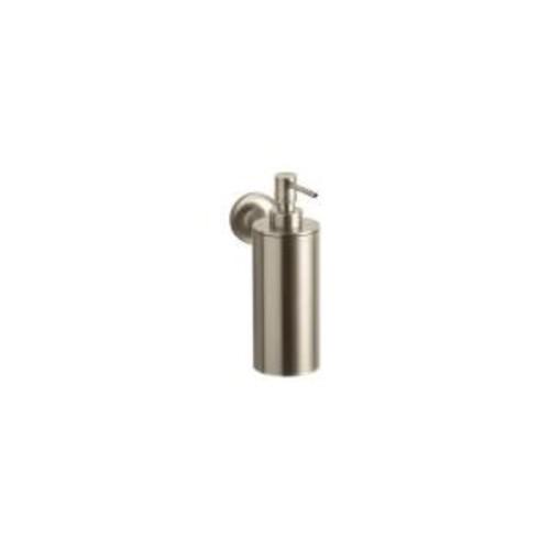 KOHLER Purist Wall-Mount Metal Soap Dispenser in Vibrant Brushed Bronze