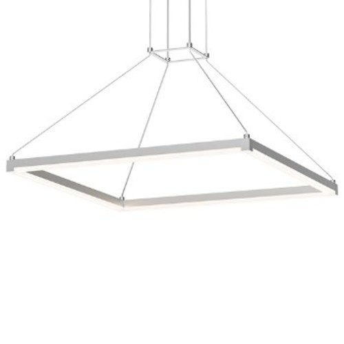Stix Square LED Pendant [Finish : Bright Satin Aluminum]
