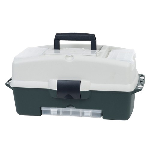 Wakeman 2-Tray Tackle Box with 3 Removable Organizers