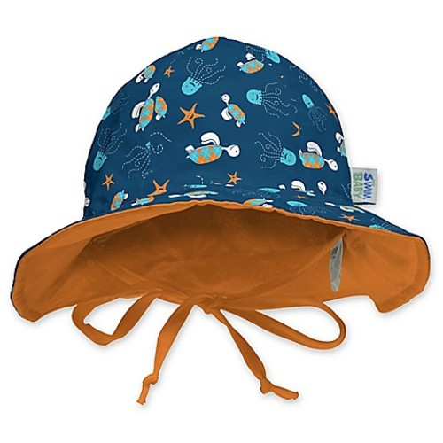 My SwimBaby Size SmallNavy Sea Friends Sun Hat
