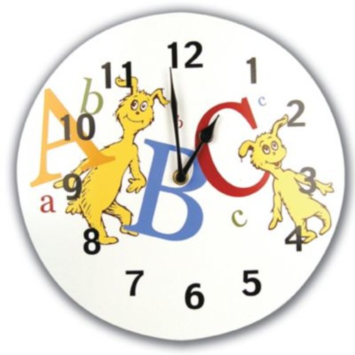 Trend Lab Circular Wall Clock- Dr. Seuss Abc (TREND1667)