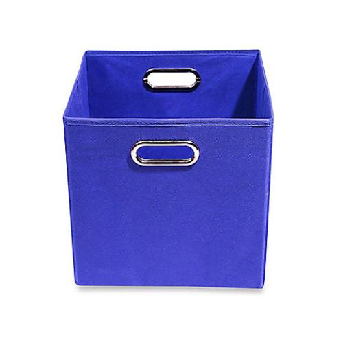 Modern Littles Folding Storage Bin in Solid Blue
