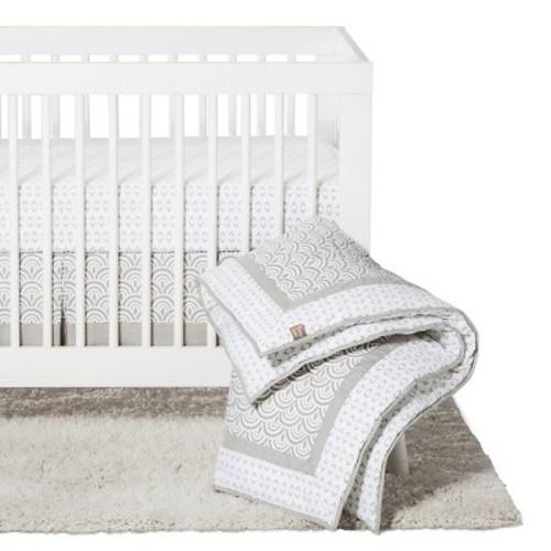 Trend Lab 3pc Crib Bedding Set - Gray Art Deco