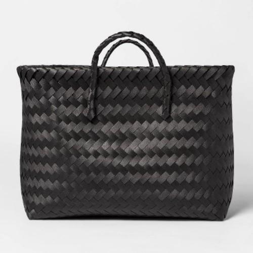 Large Woven Rectangular Storage Basket - Black - Room Essentials