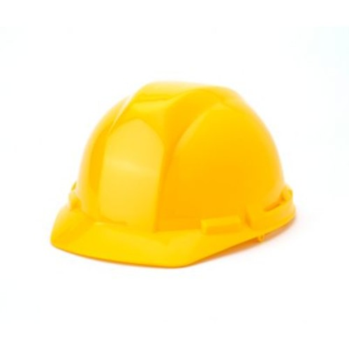 Mutual Industries 4-Point Pin Lock Suspension Hard Hat, Yellow