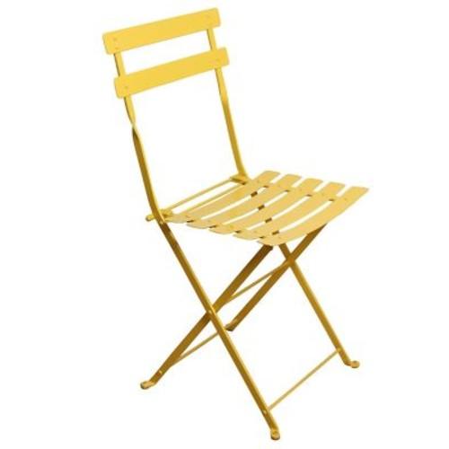 Furniture Designhouse French Bistro European Cafe Folding Patio Dining Chair (Set of 2); Zinc Yellow