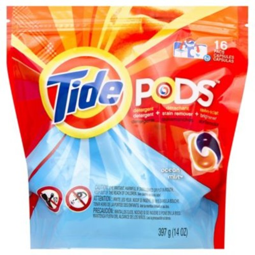Tide Pods 16-Count Laundry Detergent in Ocean Mist